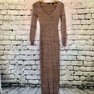 Sm- Moda International Brown Sweater Dress